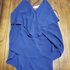 Strappy layered large tank top magnolia nwt